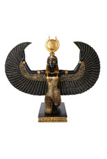 Large Isis Statue in Black and Gold Finish