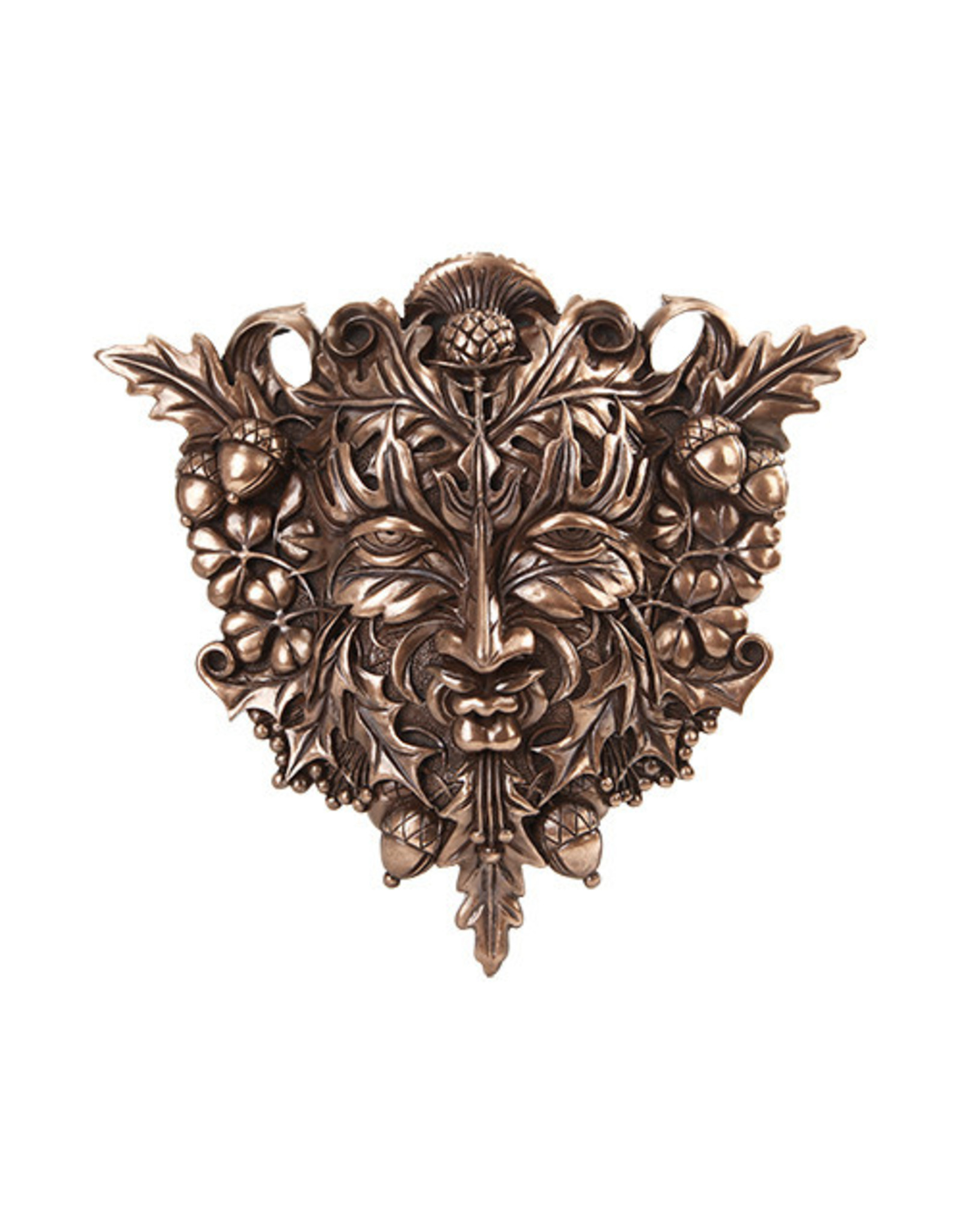 Greenman Wall Plaque in Cold Cast Bronze