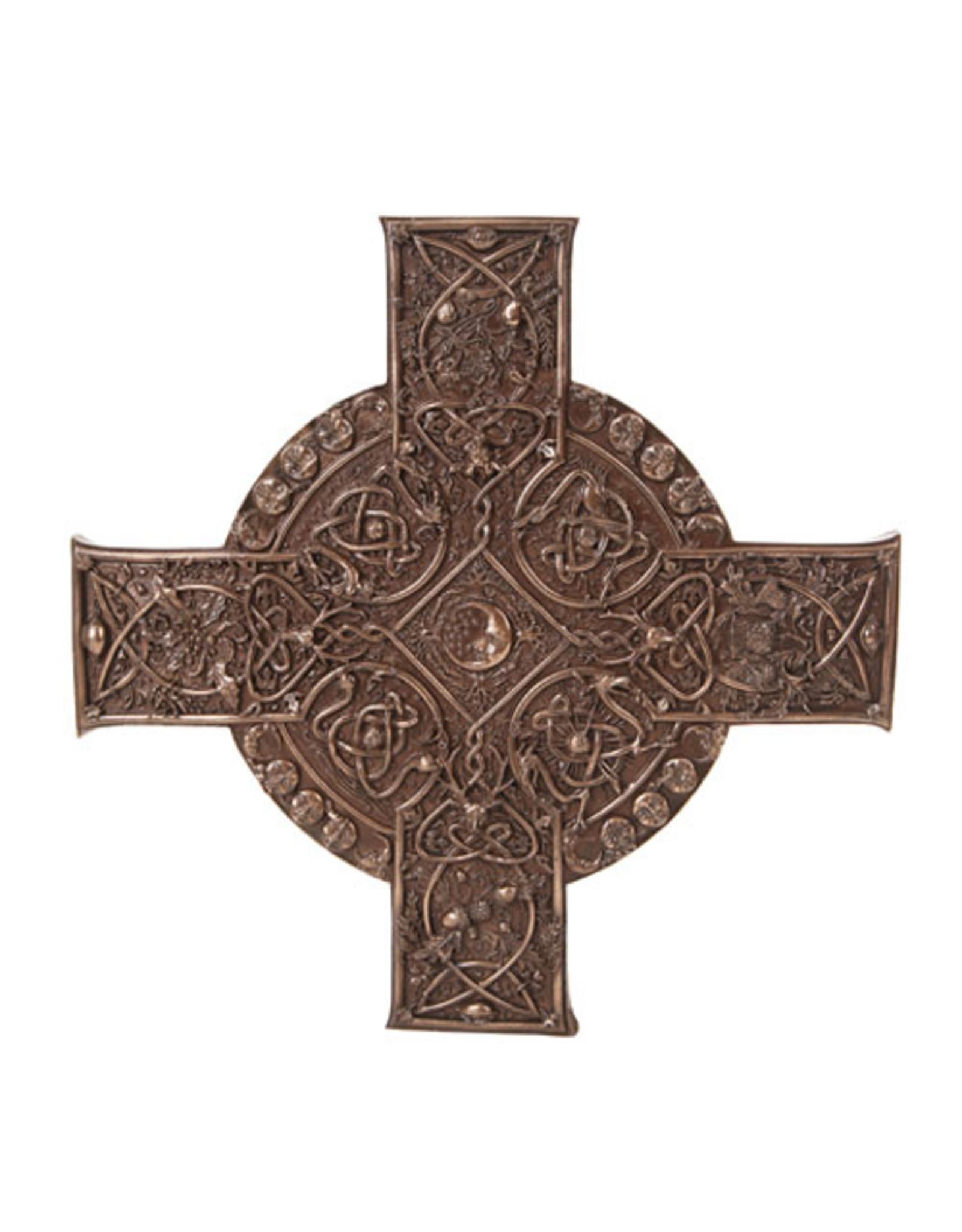 Elemental Celtic Cross Plaque in Cold Cast Bronze