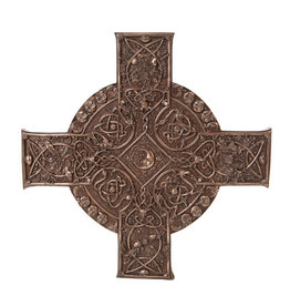 Elemental Celtic Cross Plaque in Cold Cast Bronze