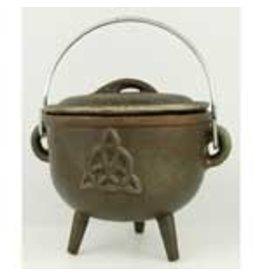 Triquetra Cast Iron Cauldron 4.5 inches