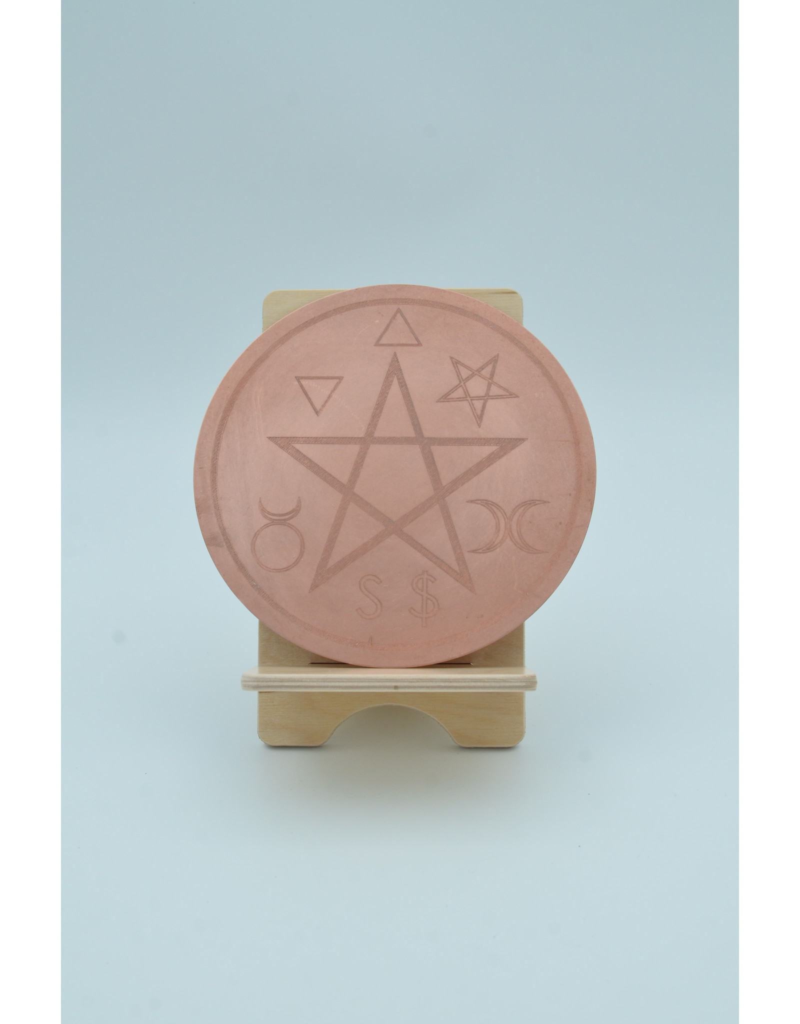 Traditional Altar Pentacle 6 inch Copper