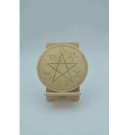 Traditional Altar Pentacle 6 inch Brass