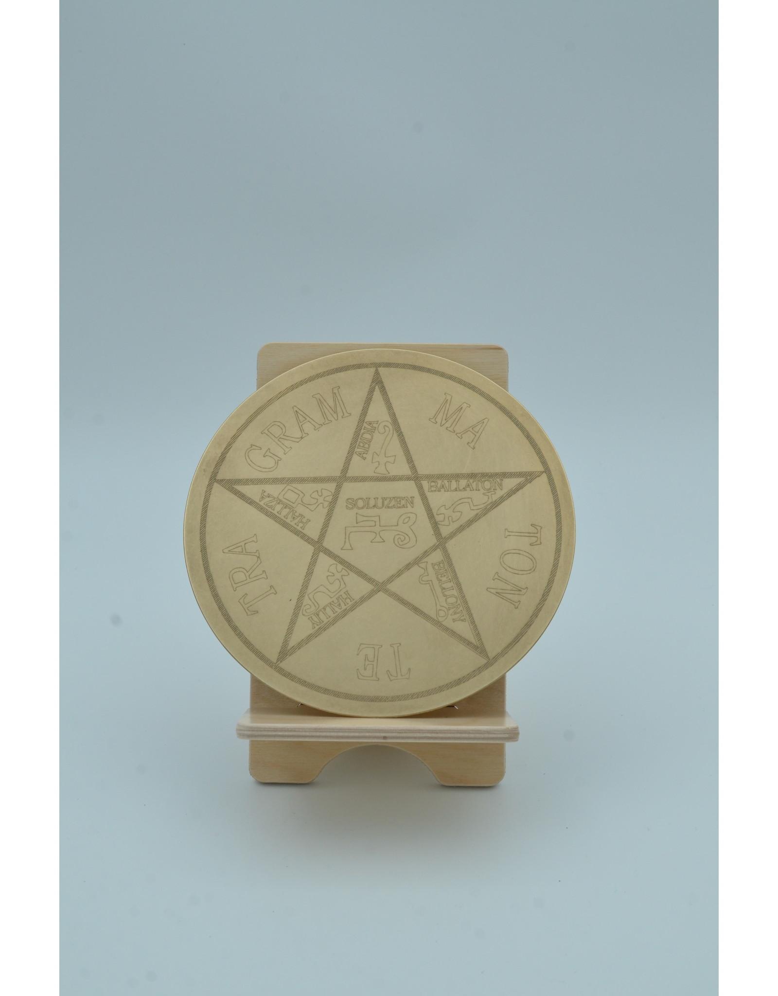 Tetragrammaton Altar Disk 6 inch Brass