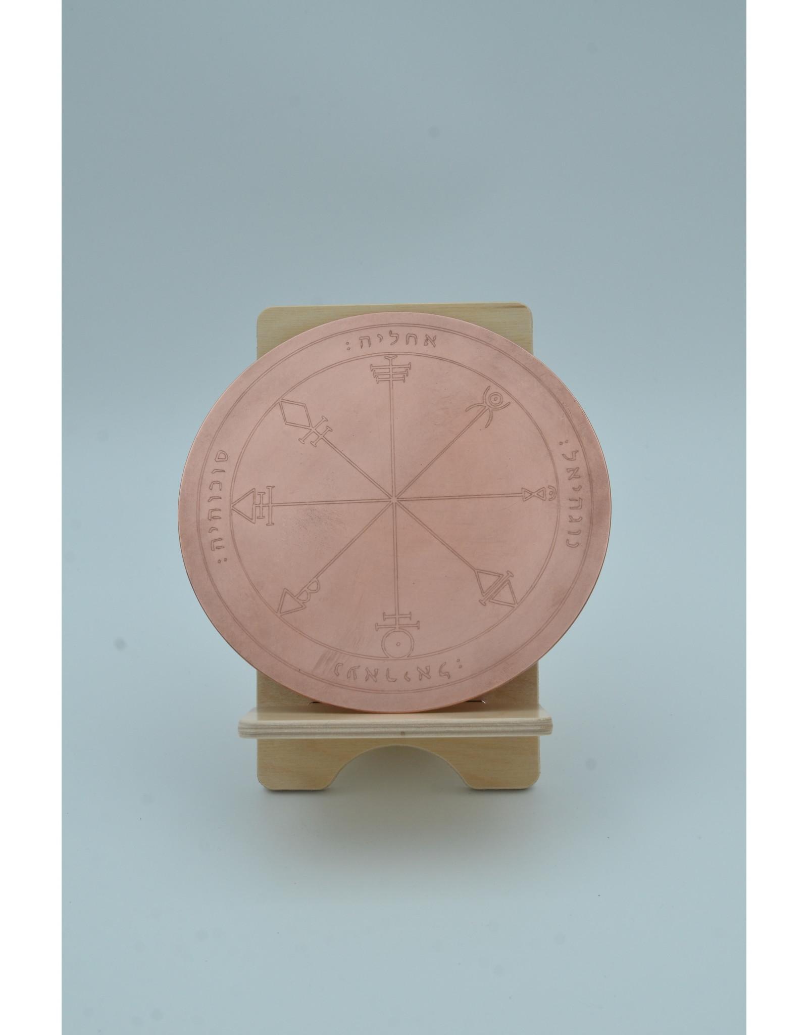 First Pentacle of Venus Altar Disk 6 inch Copper