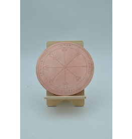 First Pentacle of Venus Altar Disk 6 inch Copper