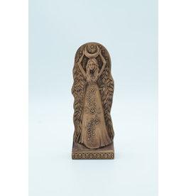Moon Goddess Wooden Statue
