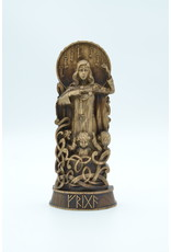 Wood Carved Frigg Statue