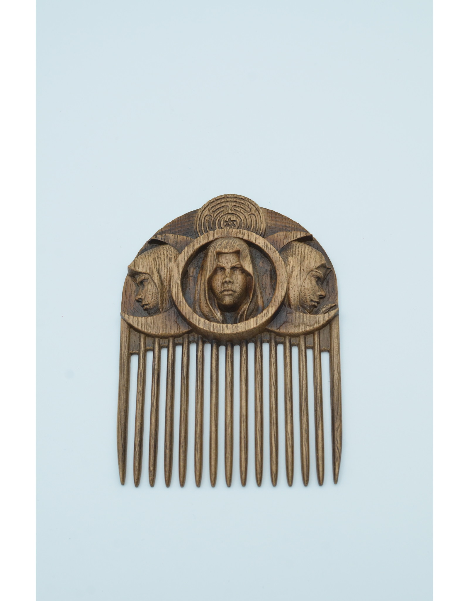 Wood Carved Hecate Comb