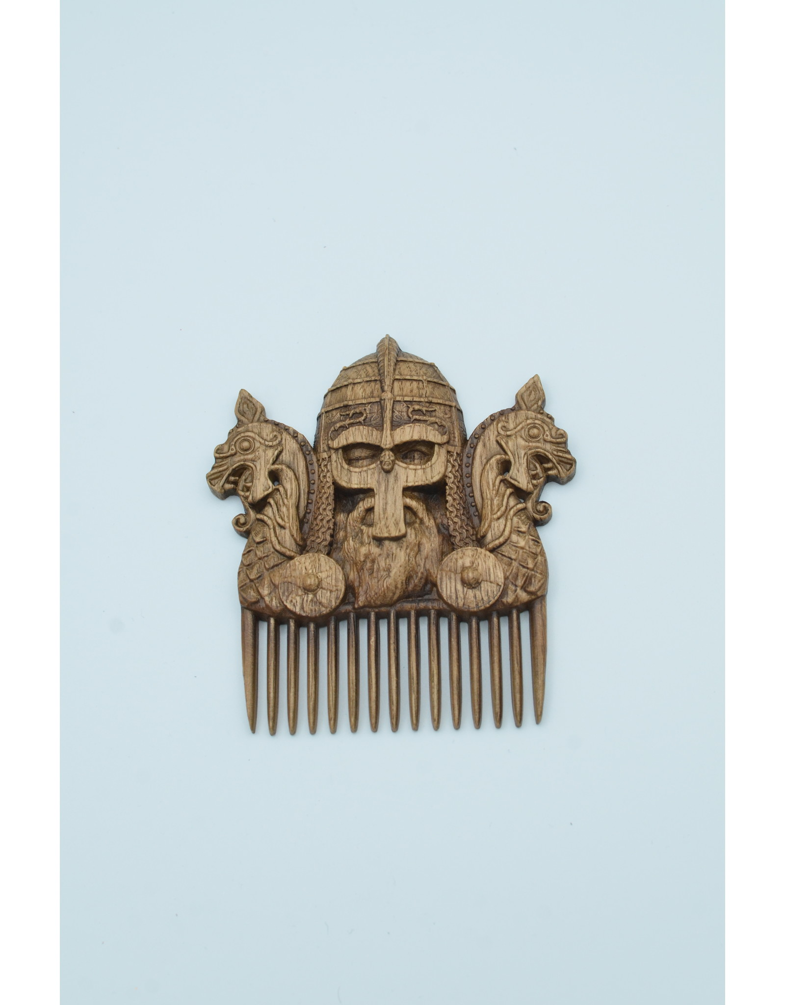 Wood Carved Viking Comb