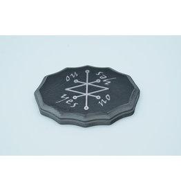 Saturn Kamea Pendulum Board in Black and Lead