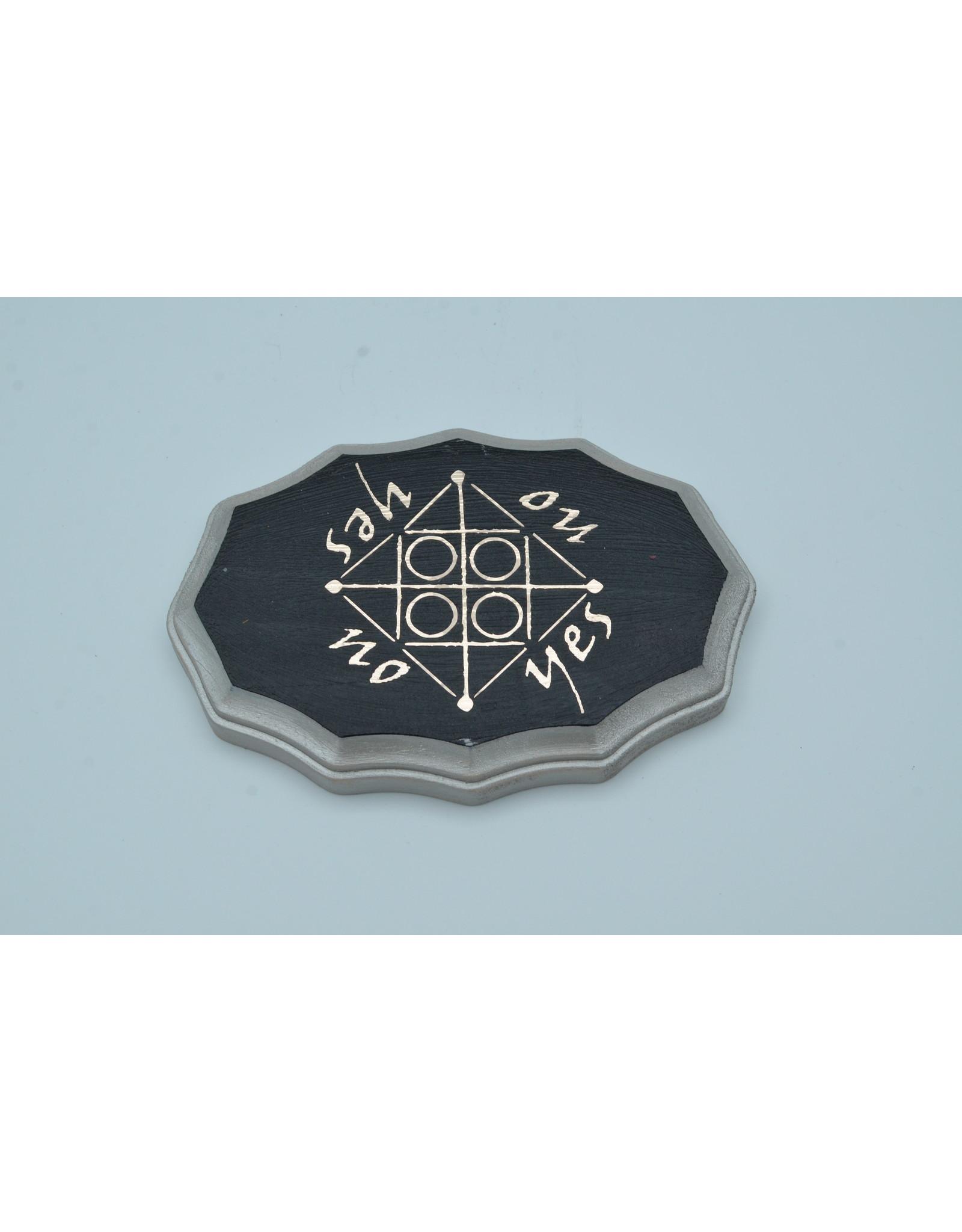 Mercury Kamea Pendulum Board in Black and Mercury