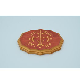 Sun Kamea Pendulum Board in Mahogany and Gold