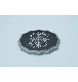 Moon Kamea Pendulum Board in Black and Silver