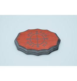 Jupiter Kamea Pendulum Board in Mahogany and Tin