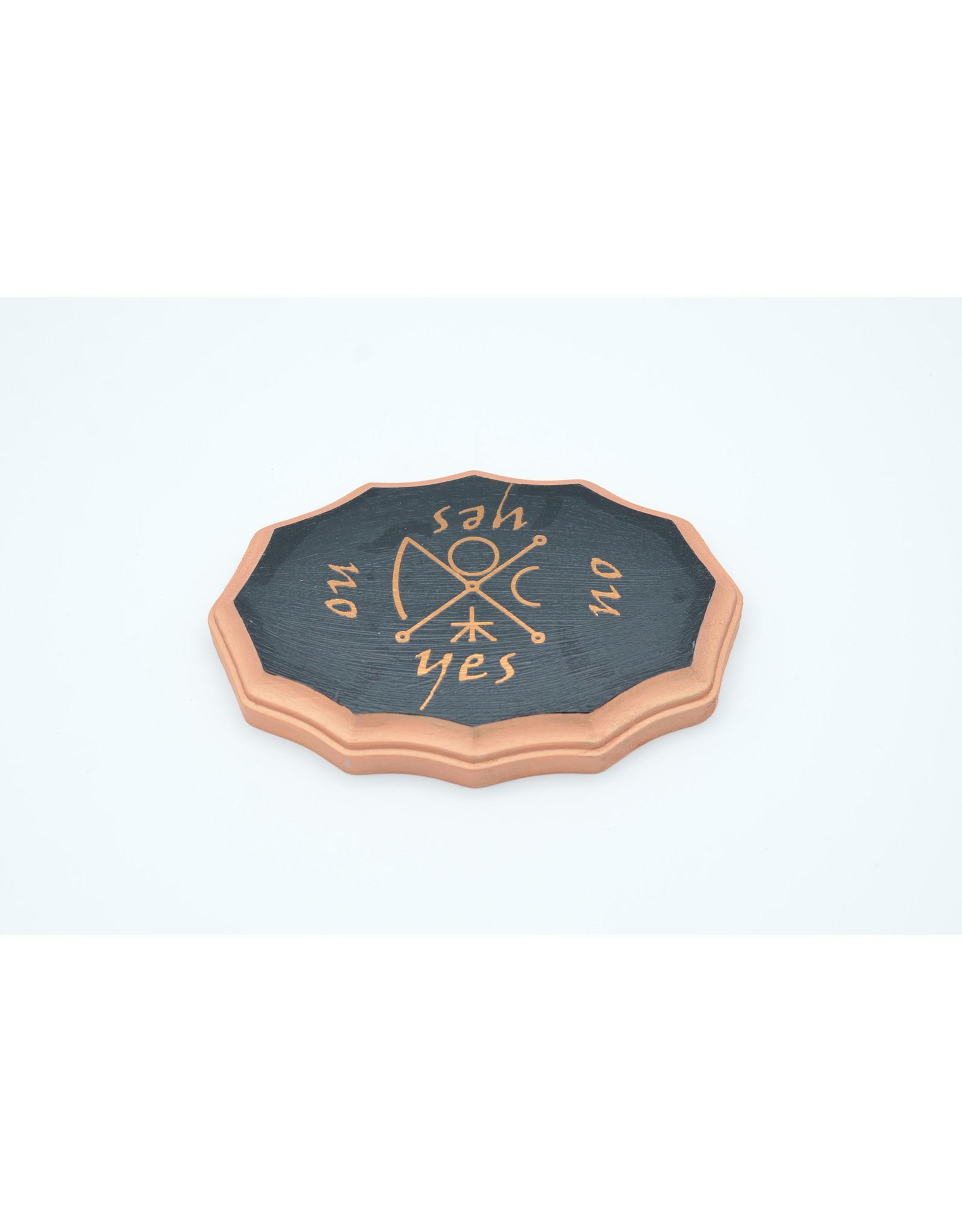 Venus Kamea Pendulum Board in Black and Copper