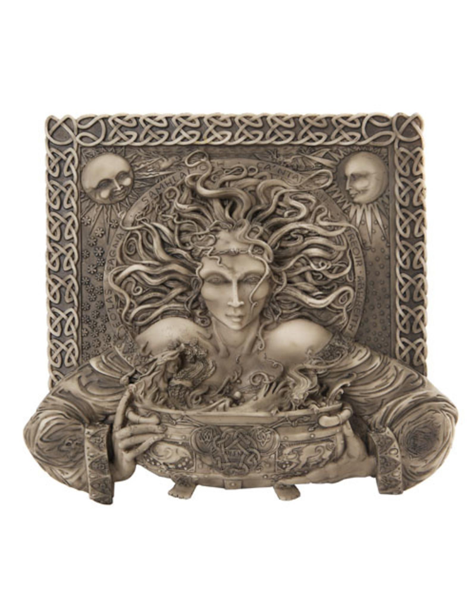Cerridwen Cold Cast Bronze Finish Plaque