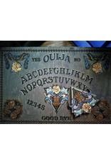 Silver Wood Snake & White Roses Ouija Board