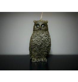 Black Screech Owl Figure Candle