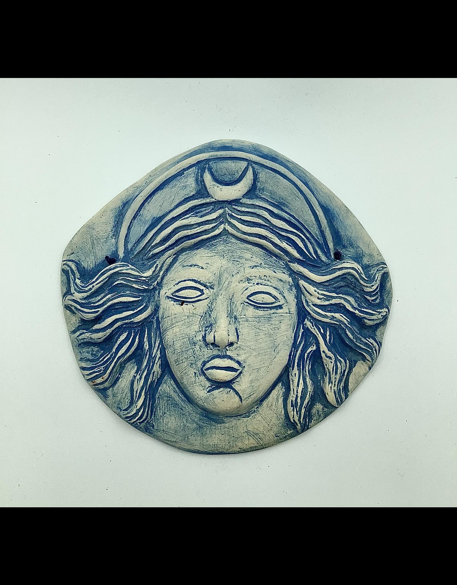 Stoneware Moon Goddess Plaque