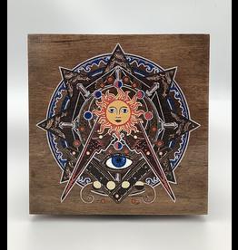 Masonic Occult Wood Altar Box