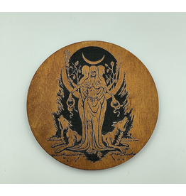 Hecate Oak & Black Altar Pentacle