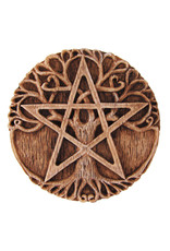 Small Tree Pentacle Plaque in Wood Finish