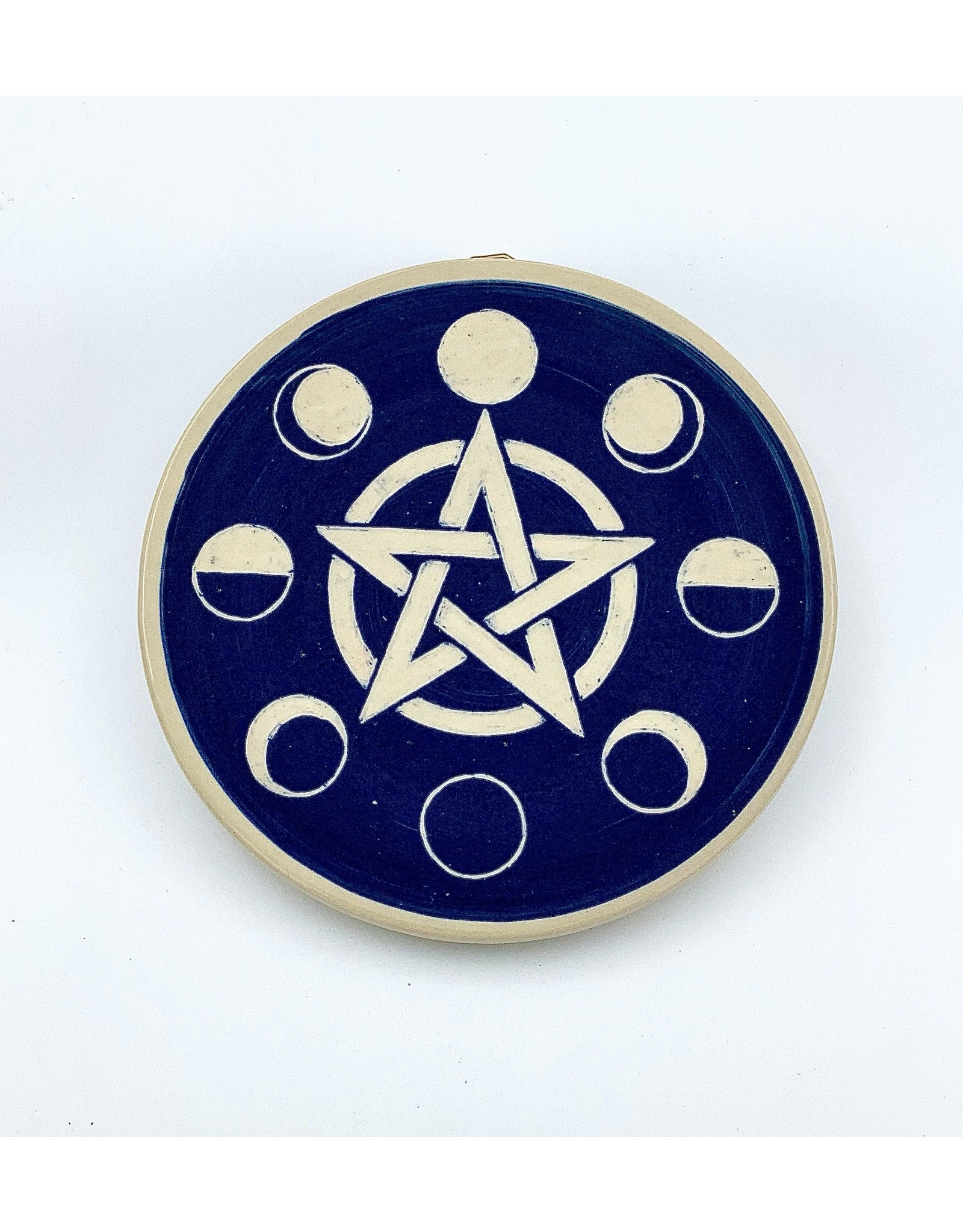 Pentacle Moon Phase Plaque