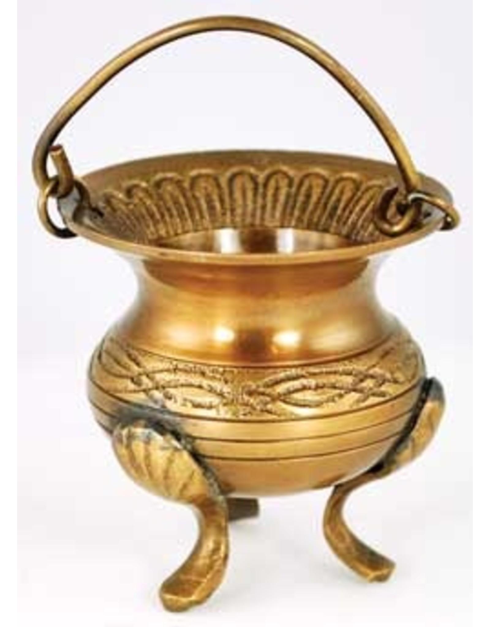 Celtic Brass Cauldron