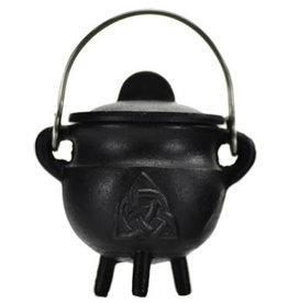 Triquetra Cast Iron Cauldron with Lid