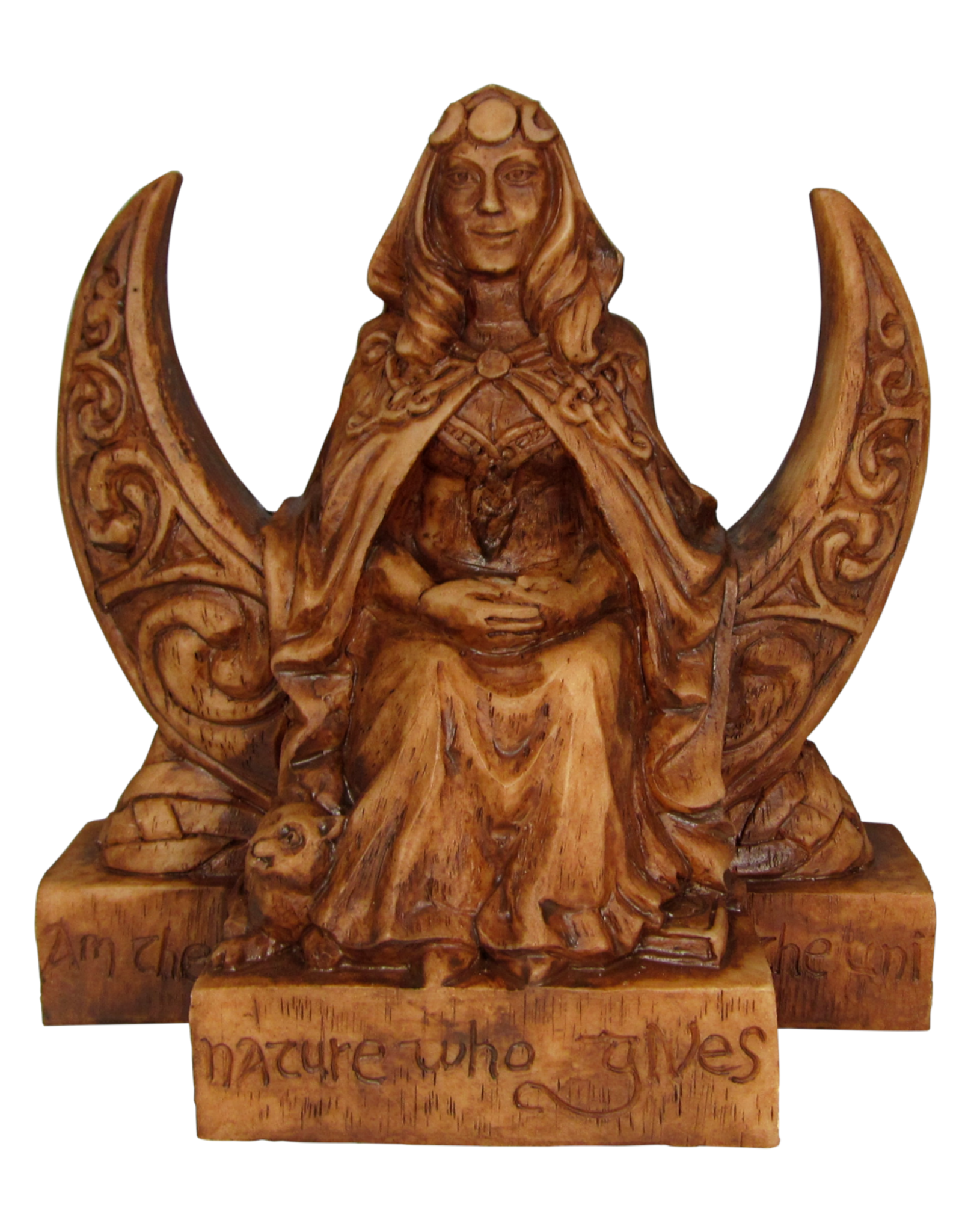 Moon Goddess Small Statue in Wood Finish