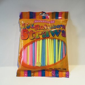 Sweetworld Rainbow Straws / 160g