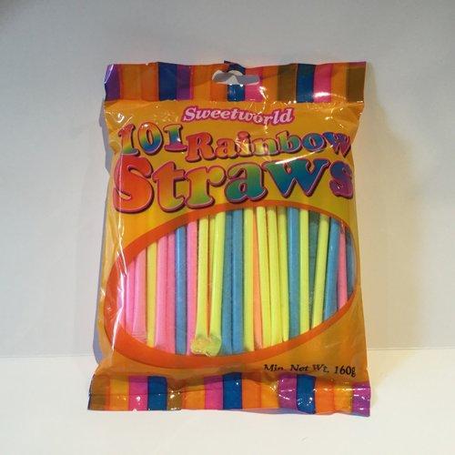Sweetworld Rainbow Straws / 160g