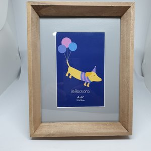 Frame Wood With Inset / 8.8 x 12.6cm