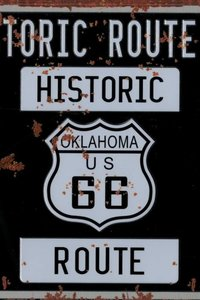 Tin Plate Historic Route 66 30 x 15cm