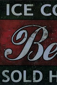 Tin Plate Ice Cold Beer 30 x 20cm