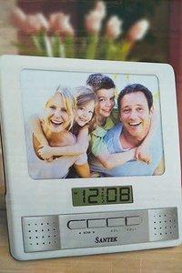 Radio Clock Photo Frame / 16 x 16cm