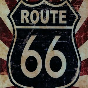 Tin Plate Route 66 30 x 20cm