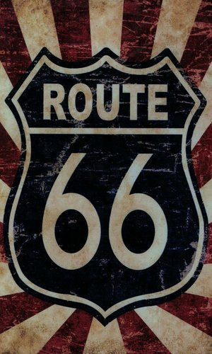 Tin Plate Route 66 30 x 20cm