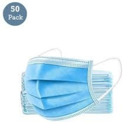 Pack 50- 3 Ply Disposable Mask