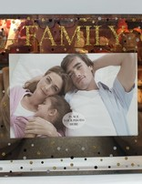 Family 6 X 4 Glass Photo Frame