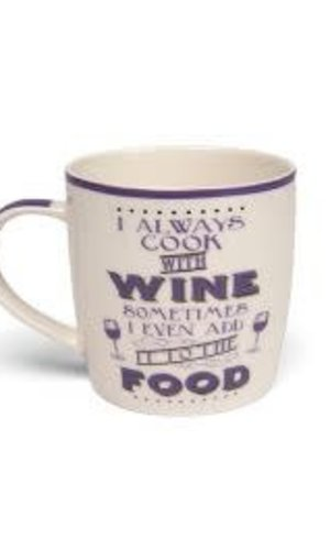Boxe Mug- I Always Cook With Wine