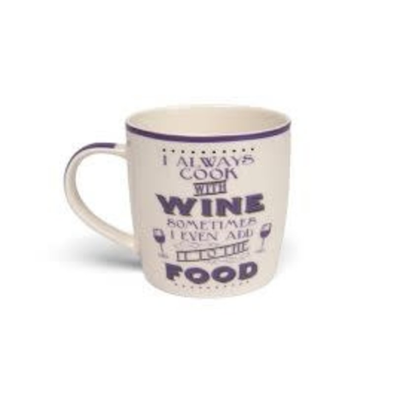Boxe Mug- I Always Cook With Wine