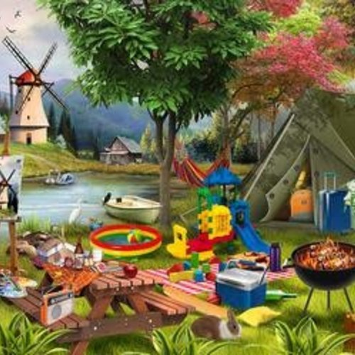 Holiday Days Camping  Jigsaw puzzle 500 pc