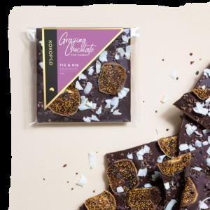 KOKO 100g Fig & Nib Grazing Chocolate Vegan KOKOPOD