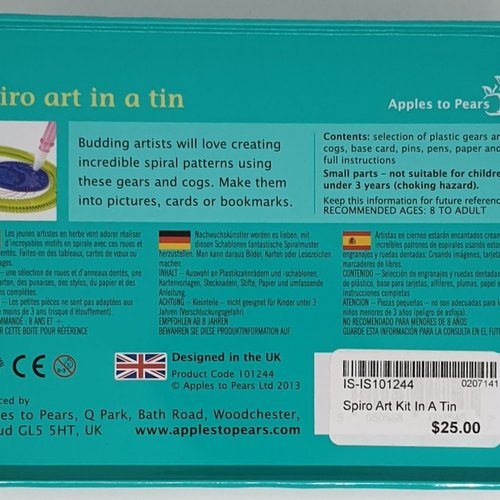 Spiro Art Kit In A Tin