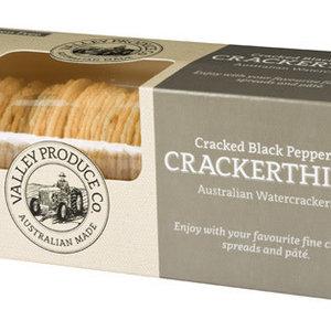 Valley Cracker Black pep Thins Gluten F