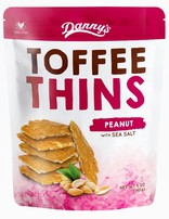 Dans Toffee Thins Peanut & Sea Salt 140g