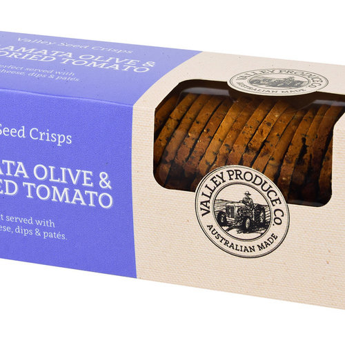 Valley Seed Crisps Olive & Sundried Toma