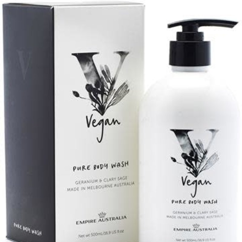 EA Vegan Body Wash Geranium & Clary Sage